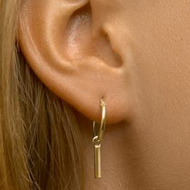zilveren oorbellen golden hoops bar