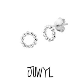zilveren oorbellen silver Cirkle dots