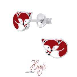 zilveren kinderoorbellen vos