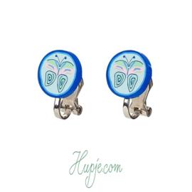 SOUZA clipoorbellen vlinder mint blauw