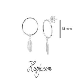 zilveren oorbellen veertje