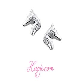 zilveren oorbellen paardenhoofd klein