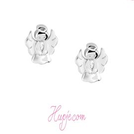 gerhodineerd zilveren oorknopjes Engeltje