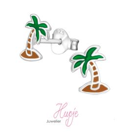 zilveren kinderoorbellen palmboom