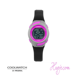 kinderhorloge PRISMA coolwatch roze zwart (29 mm)