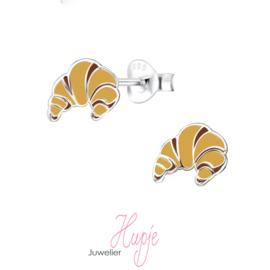 zilveren oorknopjes croissantje