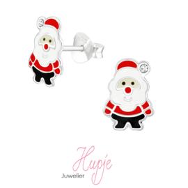 zilveren oorbellen kerstman