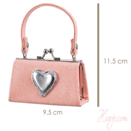 Souza! sieraden bewaartasje roze glitter en hartje