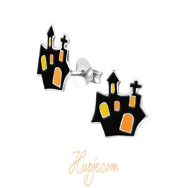 zilveren kinderoorbellen spookhuis