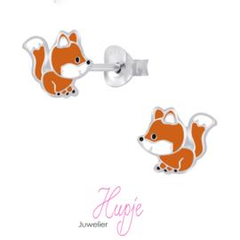 zilveren kinderoorbellen vosje