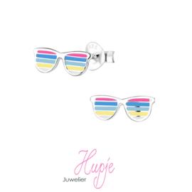 zilveren kinderoorbellen zonnebril