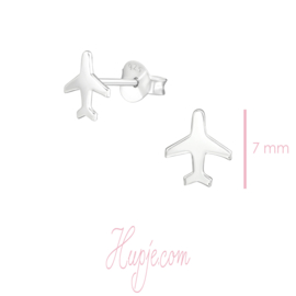 Silberne Ohrringe Flugzeug
