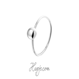 zilveren dames ring bol