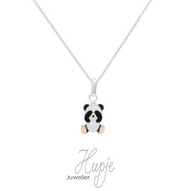 zilveren kinderketting kiekeboe panda (premium)