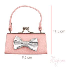 SOUZA sieraden bewaar tasje roze glitter met strik