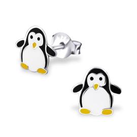 Silberne Kinderohrringe Pinguin