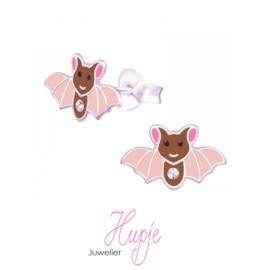 zilveren oorbellen vleermuis Fladdertje