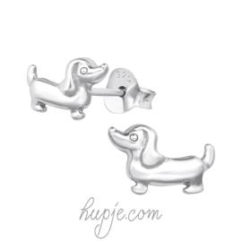 Silberne Ohrringe Dackel