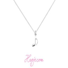 zilveren ketting muzieknoot