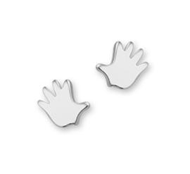 zilveren oorbellen handje
