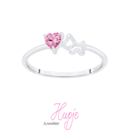 zilveren ring Love dogs