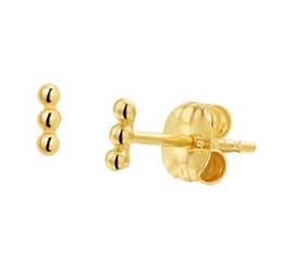 14 Karat Gold Ohrringe 3 Kugeln