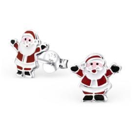 zilveren kinderoorbellen kerstman