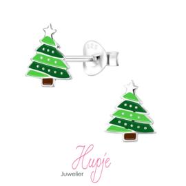 zilveren kinderoorbellen kerstboom zilveren ballen