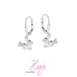 zilveren kinderoorhangers zeehond brisure sluiting (premium)