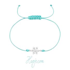 Verstellbares Kinderarmband Frozen mit silberner Schneeflocke