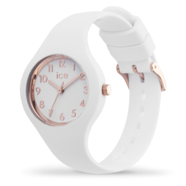 ICE glam White Rose Gold Numbers Extra Small (28 mm kast)