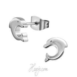 oorbellen chirurgisch staal dolfijn