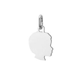 ketting (45 cm) + 1 gegraveerde bedel (meisje of jongen)