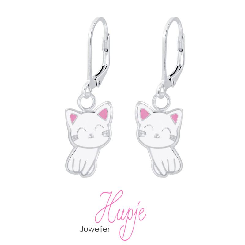 zilveren kinderoorbellen Kitty Cat (premium)