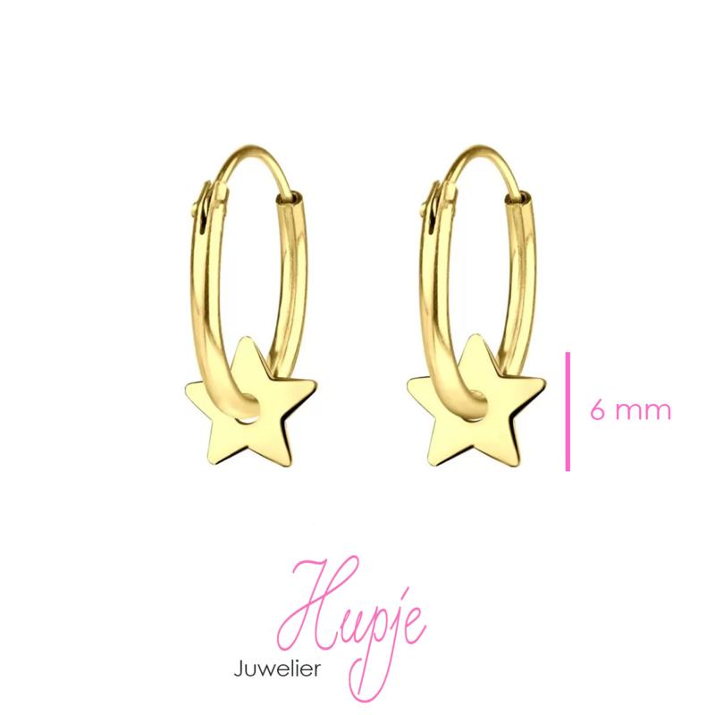 gouden creolen ster
