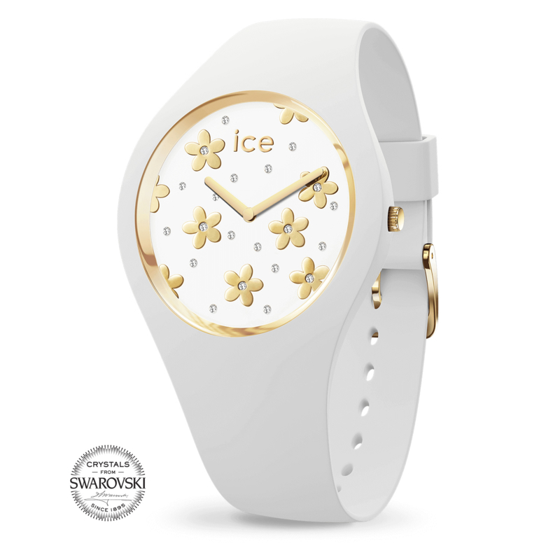 ICE flower Precious White Small (34 mm kast)