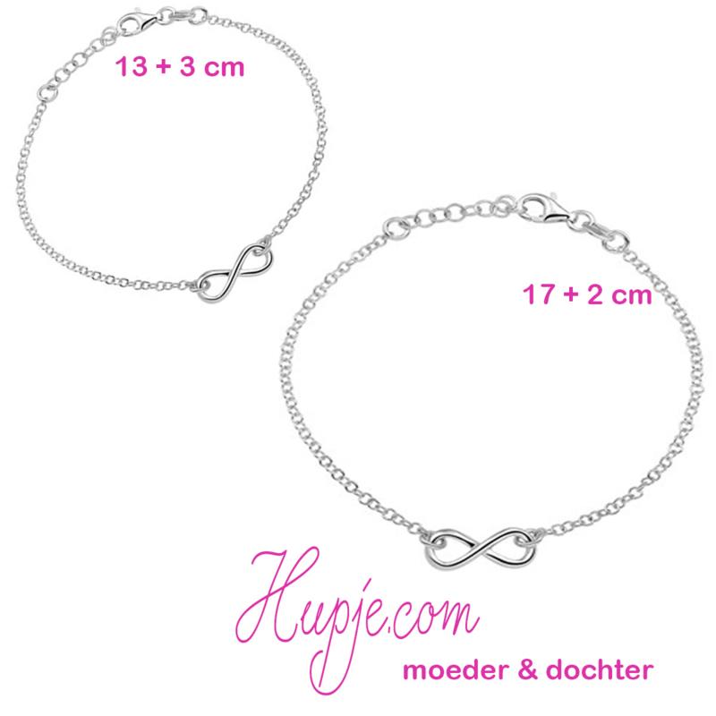 zilveren moeder-dochter armbandjes (2 stuks) INFINITY