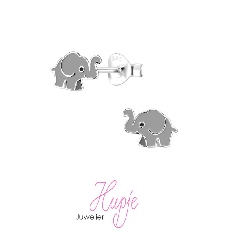 zilveren kinderoorbellen olifantje