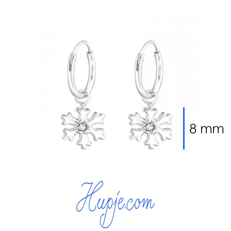 zilveren oorbellen Frozen zilver en kristal