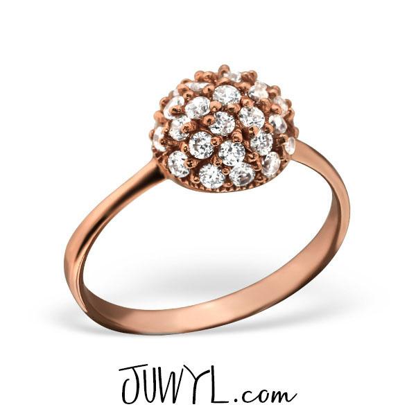 zilveren ring Sparkle rosegoud (ringmaat 18)