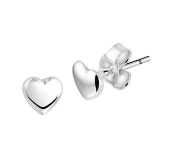 zilveren oorknopjes hartjes