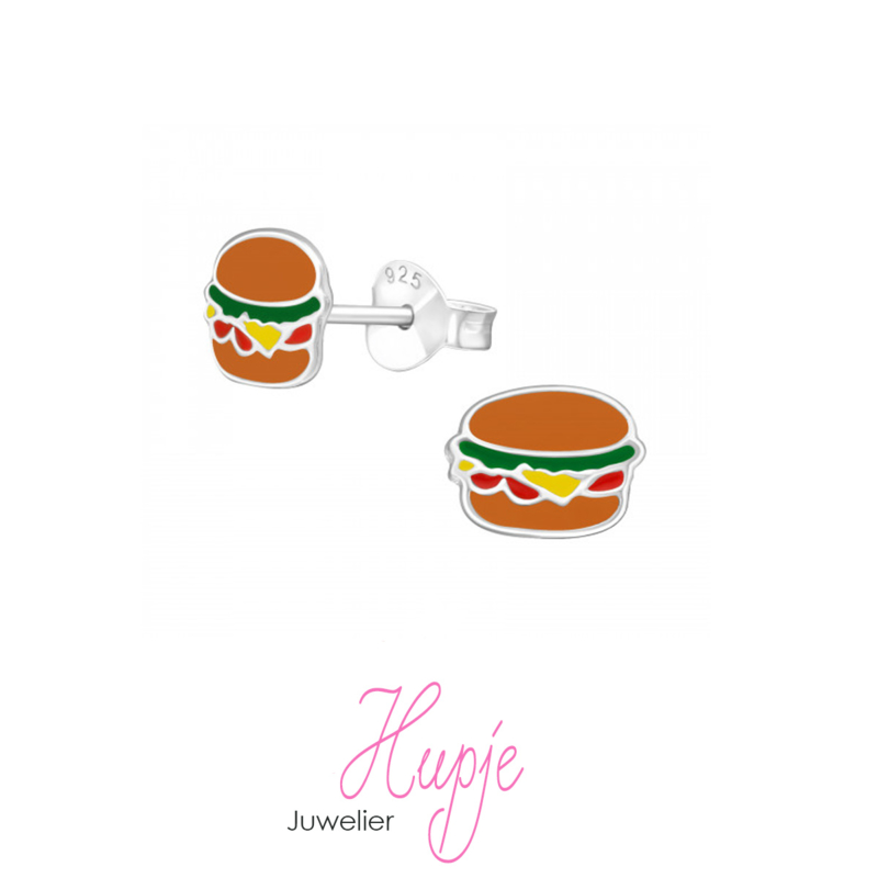 zilveren oorknopjes hamburger