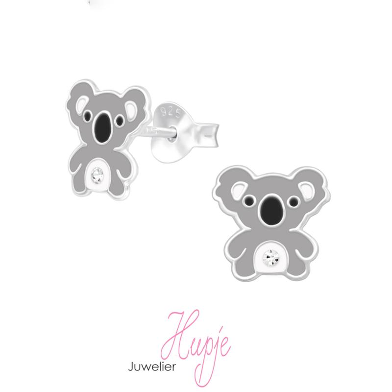 zilveren kinderoorbellen koala