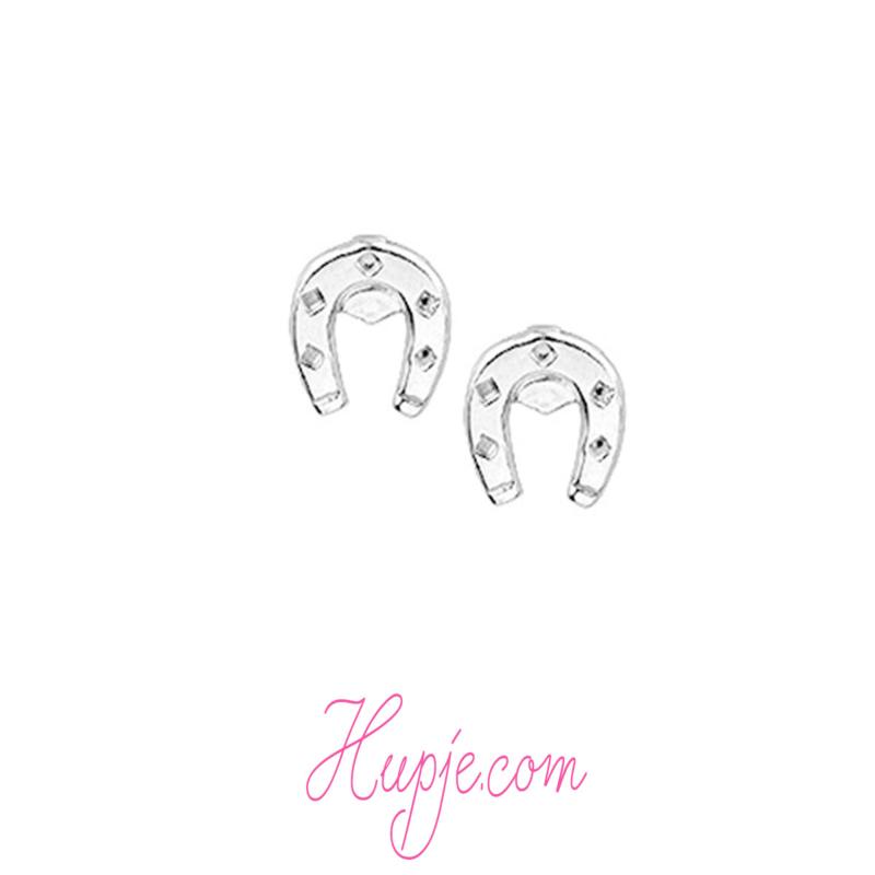silver earrings Horseshoe
