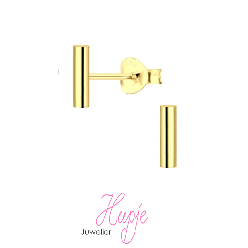 geelgouden staafje (2 x 8 mm)