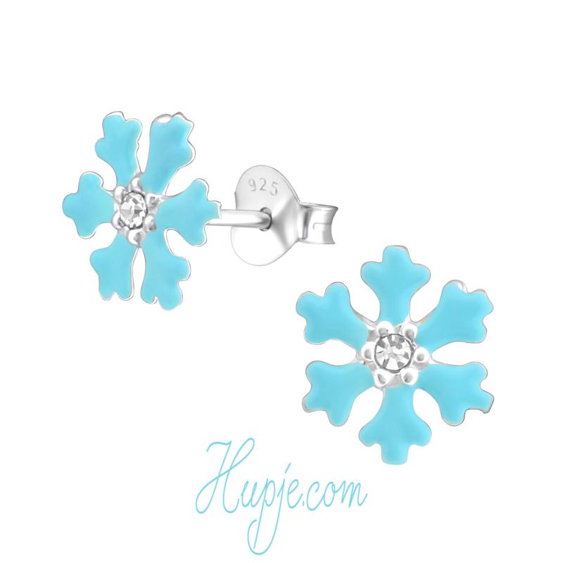 Silver children's earrings Magic Blue Frozen