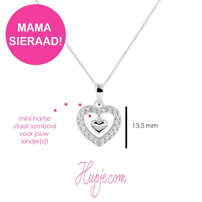 zilveren mama sieraad 'LOVE MY CHILD(REN)'