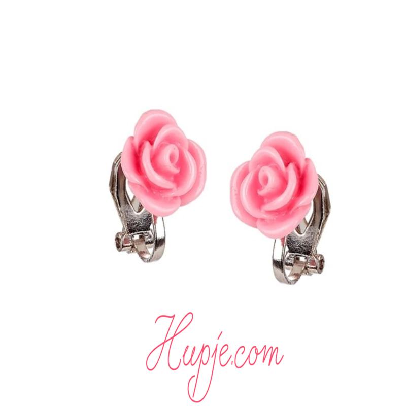 SOUZA clipoorbellen roze roos