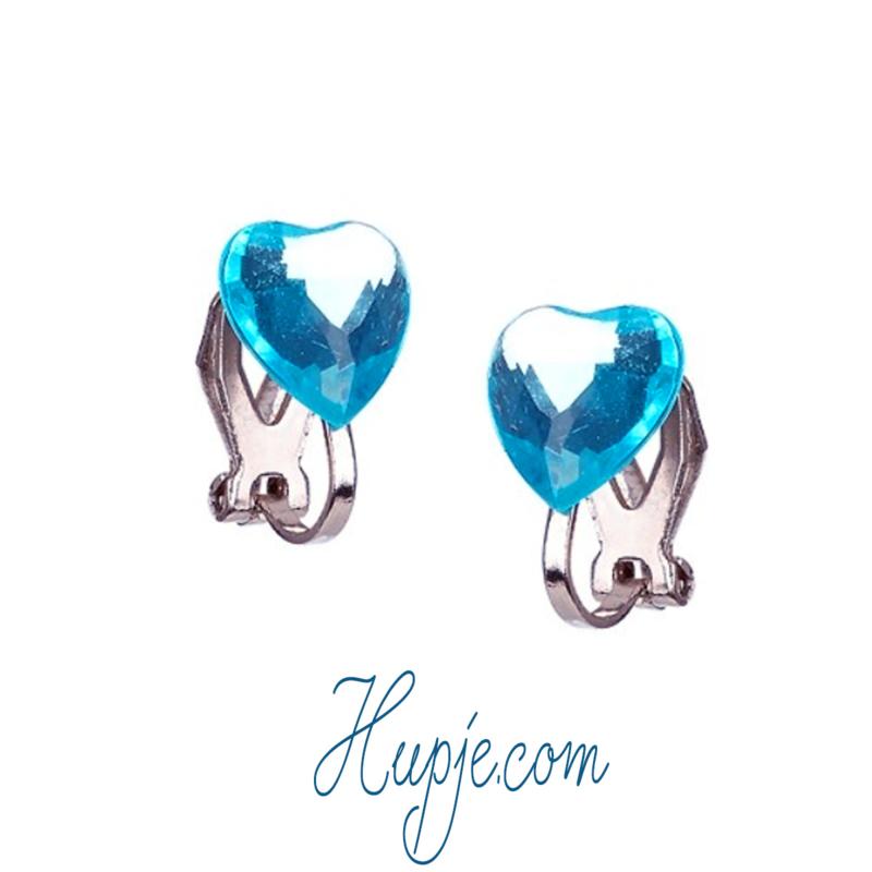SOUZA clipoorbellen blauw hartje