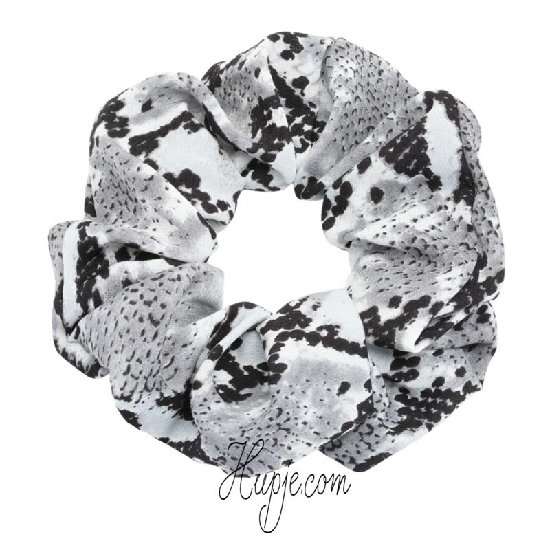 scrunchie python grijs